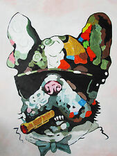 BIG DOG MAFIA A0 SUPER SIZE CANVAS STREET ART GRAFFITI BANKSY CIGAR