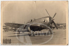 WWII P47 FIGHTER BOMBER PLANE HELL BENT NOSE ART VINTAGE IDed SNAPSHOT PHOTO