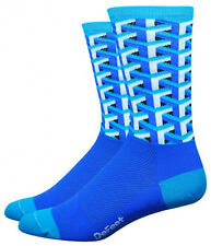 Defeet Aireator Socks Tall Frame Work Blue Large