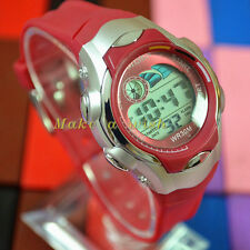 OHSEN Child Red Sport Digital Light Girl Boys Kids Alarm Quartz Watch Watches