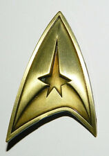 Star Trek Original TV Series Command Logo Brass Toned Badge Metal Pin NEW UNUSED
