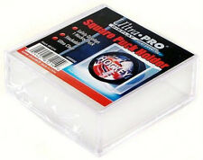 3 SQUARE HOCKEY PUCK ULTRA CLEAR DISPLAY CASE HOLDER ULTRA PRO REGULATION SIZE