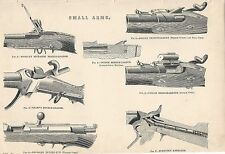 1898 ANTIQUE PRINT SMALL ARMS, BREECH LOADERS, REPEATERS