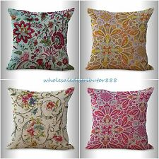4pcs decorative pillow covers for couch cushion covers retro boho flower