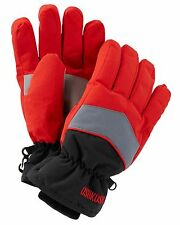 New OshKosh Ski Gloves Winter Glove size 8-14 year Kid Boy NWT Red Gray Black