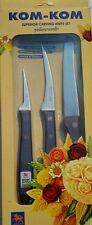 KOM KOM KNIFE CARVING KNIFE SET FOR SUPERIOR CARVING FRUIT OR VEGETABLE SET A