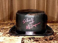 Alice Cooper Rare Authentic Hand Signed Prop Top Hat W/ School's Out Inscription