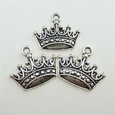 12807 40PCS Alloy Fairytale King Mini Crown Pendant Charm