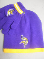 Reebok NFL Minnesota Vikings Toddler Beanie Hat & Gloves Set NWT $15