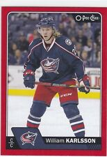 WILLIAM KARLSSON 2016-17 16-17 OPC O-PEE-CHEE RED PARALLEL #195 COLUMBUS !