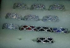 Alliance Rhodié ZigZag T60 Sertie d'Onyx & de Diamant Argent 925 Dolly-Bijoux