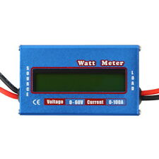 Digital LCD Watt Meter Battery Voltage Current Power Analyzer Tester 60V/100A FO