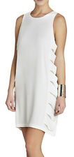 "$198 BCBG  WHITE ""EREN"" CUT-OUT SLEEVELESS DRESS NWT 8"