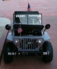 NEW - US Army Mini Jeep Rambler GAS 125cc 3 speed Golf Cart Go Kart Buggy
