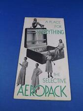 MCBRINE LUGGAGE THE SELECTIVE AEROPACK ADVERTISING BROCHURE FLYER FOLD OUT