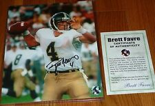 GREEN BAY PACKERS BRETT FAVRE 4 AUTOGRAPHED NCAA SOUTHERN MISS 8x10 PHOTO BF COA