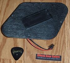 Gibson Les Paul Plate Rear Cavity Black Cover Guitar Parts Battery Quick Connect