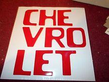 1954 - 1980 CHEVROLET STEPSIDE TRUCK TAILGATE LETTERING LETTER DECALS SET RED