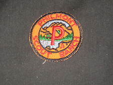 Philmont Scout Ranch P Patch, white back,      c38