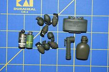 1:6 Military US Smoke Grenades Flashlight Canteen Claymore (Lot of 13) C-168