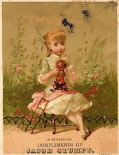 LA RECREATION, GIRL & DOLL, JACOB STUMPF, MARQUES-BAILEY LITH, FRENCH VICTORIAN