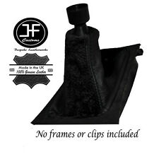BLACK SUEDE BLACK LEATHER GEAR STICK GAITER FITS VAUXHALL OPEL ASTRA G 1998-2005