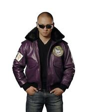 UD Replicas Joker Goon Themed Leather Bomber Jacket Size: Medium