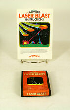 Atari 2600 game Laser Blast  With Instructions Tested and Working