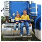 Kids Hi Vis Work Shirts - Yellow/Navy Blue Farm Safety High Visibility Clothing