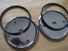 NEW BMW STAINLESS STEEL GAS TANK TRIM RINGS W/O-RINGS FIT 60 MM EMBLEMS