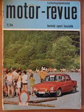 Tschechoslowakische MOTOR REVUE  7 - 1974 (1)* Six-days Moto Cross-Sittendorf CZ