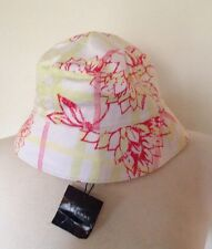 NWT BURBERRY NOVA CHECK FLORAL PRINT HAT $145 SIZE SMALL AUTHENTIC