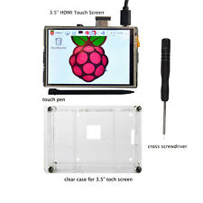 3.5 Inch LCD HDMI Touchscreen W/ Clear case for Raspberry Pi 2 3 1920x1080 New