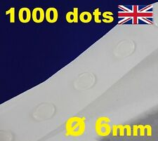NEW 1000 Glue Dots Sticky Craft Clear Card Making Scrap Removable 6mm STRONG