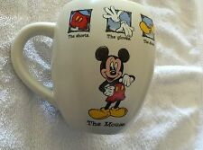 "DISNEY STORE MICKEY MOUSE ""THE MOUSE""  LARGE WHITE CUP - NEW - MISSING PRICE TAG"