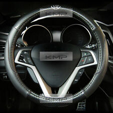 380mm Real Carbon Steering Wheel Cover Black for HYUNDAI 2006-2010 Sonata NF i45