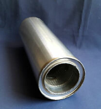 "89mm bore (3½"") 5"" Round x 14"" Long Universal Stainless steel exhaust silencer"