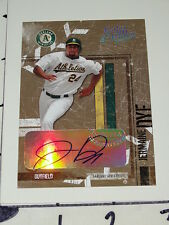 Jermaine Dye: 2004 Leather & Lumber Auto - 2005 World Series MVP White Sox / A's