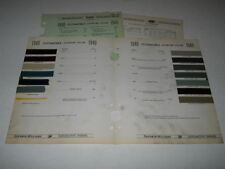 1940 OLDSMOBILE PAINT CHIP CHART COLORS SHERWIN WILLIAMS PLUS MORE