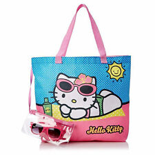 Hello Kitty Beach Tote Set - Purse Bag + Sunglasses + Pouch Pink Bolsa de Playa