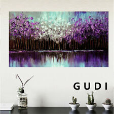 GUDI-Hand-painted Modern Wall Decor Art Abstract Oil Painting On Canvas Unframed