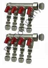 "4 port ball valve Classic manifold for 1/2"" PEX Radiant"