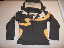 ROXY SKI SNOW JACKET SHELL LINED MUFFLER HOOD VENTS BROWN WOMEN'S XS *FREE SHIP