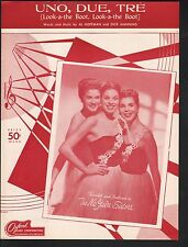 Uno Duo Tré (Look-A the Boot Look-A the Boot) 1954 The McGuire Sisters