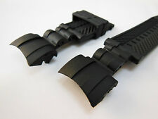 26mm Black Rubber Watch Band Strap For Invicta Reserve Zeus Bolt