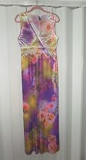 EMME LULU WATERCOLOR FLORAL SUBLIMATION PRINT MAXI DRESS CROSSOVER BUST SZ L