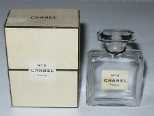 Vintage Perfume Bottle Chanel No 5 Bottle/Box 1 OZ TPM Pre 1950 Open/Empty 2 1/2