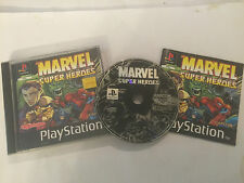 PAL PS1 PLAYSTATION 1 PSone GAME MARVEL SUPER HEROES COMPLETE By CAPCOM