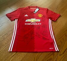Squad Signed Manchester United 2016/17 Home Shirt ~ Genuine Autographs & COA