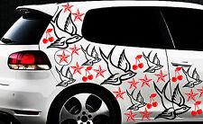 87-teiliges Schwalbe Tatuaje Estrellas Pegatina lámina de pared Cereza Swallow